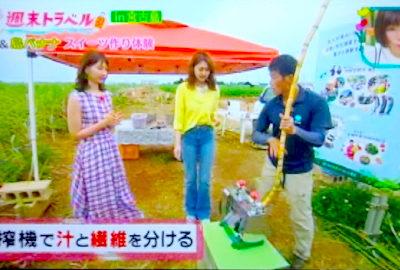 「王様のブランチ」(TBSテレビ)にて「黒糖&島バナナスイーツ作り体験」が紹介されました!
